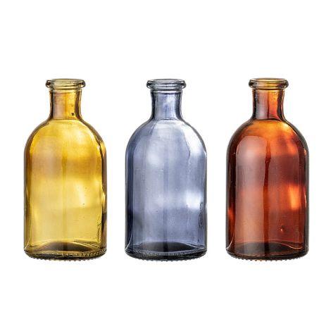Bloomingville Vase Multi-Color Glas 3er-Set