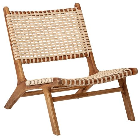 Bloomingville Sessel Lounge Chair Keila Nature Teak