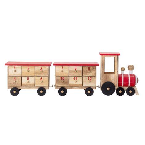 Bloomingville Adventskalender Eisenbahn aus Holz