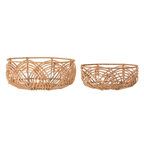 Bloomingville Korb Nature Rattan 2er-Set