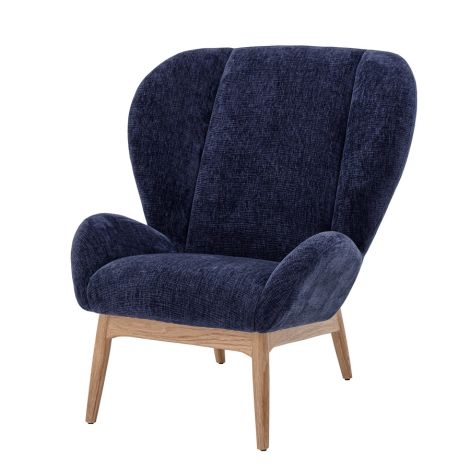 Bloomingville Sessel Lounge Chair Eave Blue