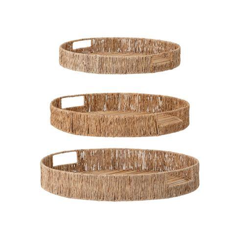 Bloomingville Korb-Tablett Nature Bamboo 3er-Set
