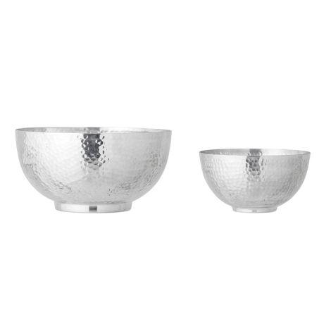 Bloomingville Schüssel Silver Aluminum 2er-Set