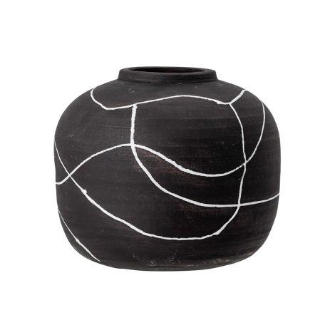 Bloomingville Vase Niza Black Terracotta