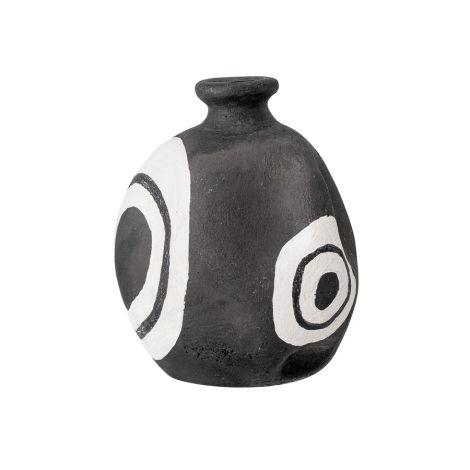 Bloomingville Deko-Vase Mika Black Terracotta
