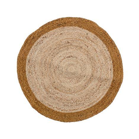 Bloomingville Teppich Birk Brown Jute 90 cm