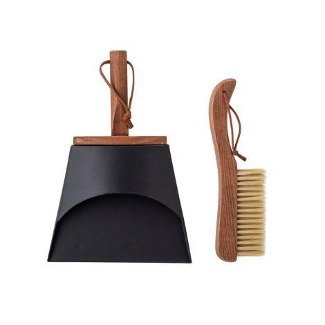 Bloomingville Kehrblech & Feger Cleaning Brown 2-teilig