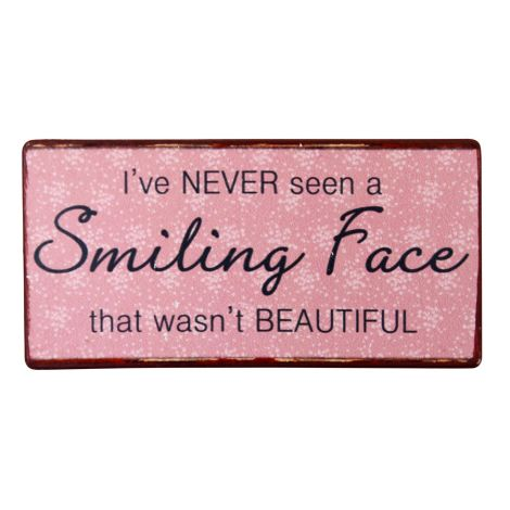 IB LAURSEN Metallschild Smiling Face