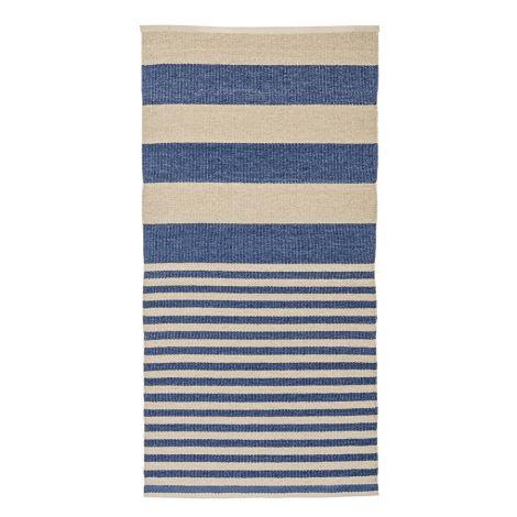 Bloomingville Teppich Stripe/Ocean
