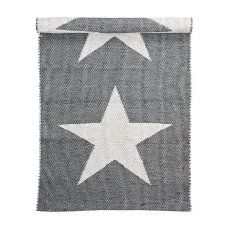 Bloomingville Teppich Cool Grey/Offwhite Star