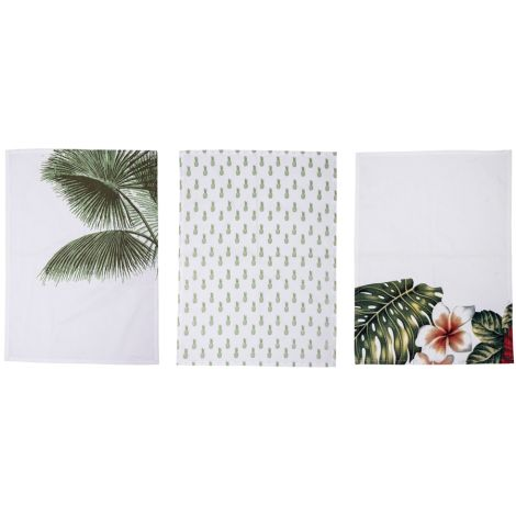 Bloomingville Geschirrtuch Aruba Multi-Color 3er-Set
