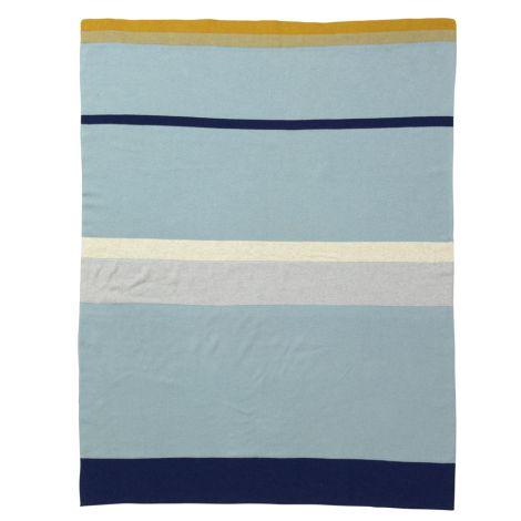 ferm LIVING Tagesdecke Little Stripy Blue •