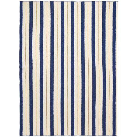 ferm LIVING Tagesdecke Pinstripe Blue