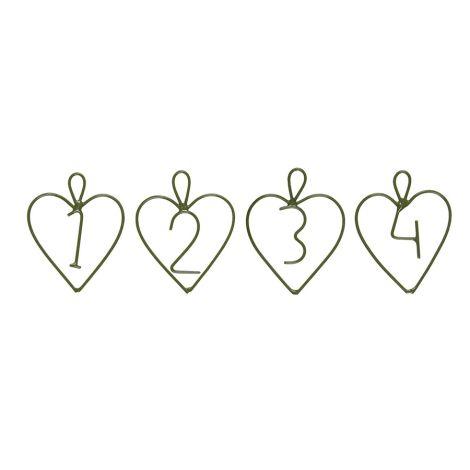 IB LAURSEN Deko-Anhänger 1-4 Herz Grün