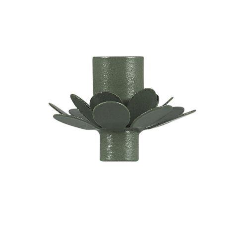 IB LAURSEN Kerzenhalter für schmale Kerze Blume Olivengrün