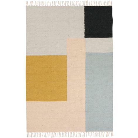 ferm LIVING Teppich Kelim Squares X-Large Multi