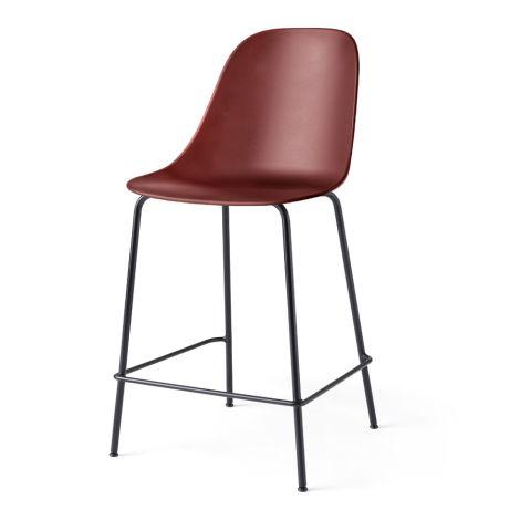 Menu Harbour Stuhl Side Counter Chair Black Steel Base/Burned Red Shell