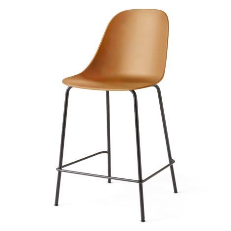 Menu Harbour Stuhl Side Counter Chair Black Steel Base/Khaki Shell