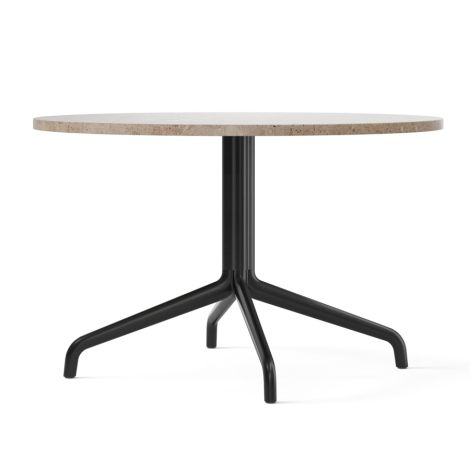Menu Harbour Column Lounge-Tisch Ø80 cm Black/Sand