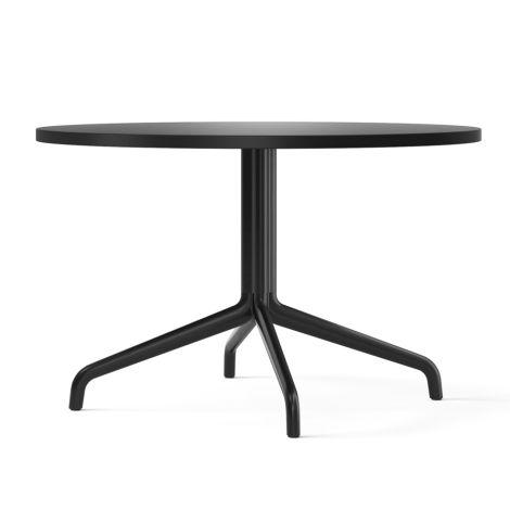 Menu Harbour Column Lounge-Tisch Ø80 cm Black/Charcoal