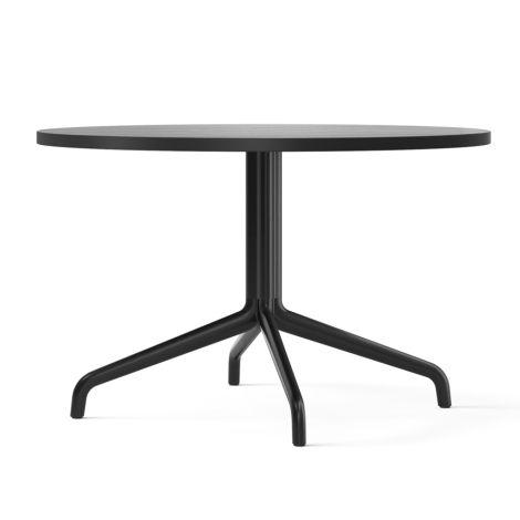 Menu Harbour Column Lounge-Tisch Ø80 cm Black/Black Oak