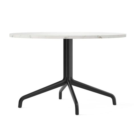 Menu Harbour Column Lounge-Tisch Ø80 cm Black/Off White