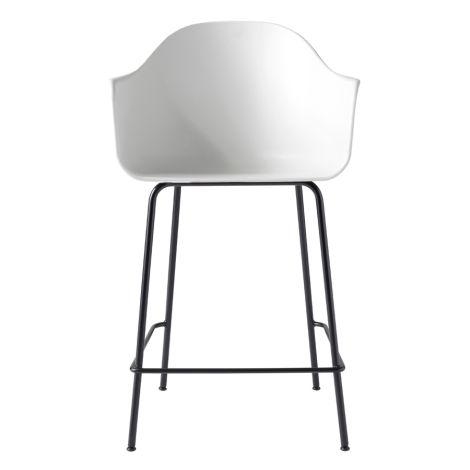 Menu Harbour Stuhl Counter Chair White Shell/Black Steel Base