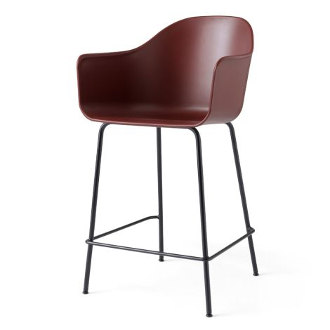 Menu Harbour Stuhl Counter Chair Black Steel Base/Burned Red
