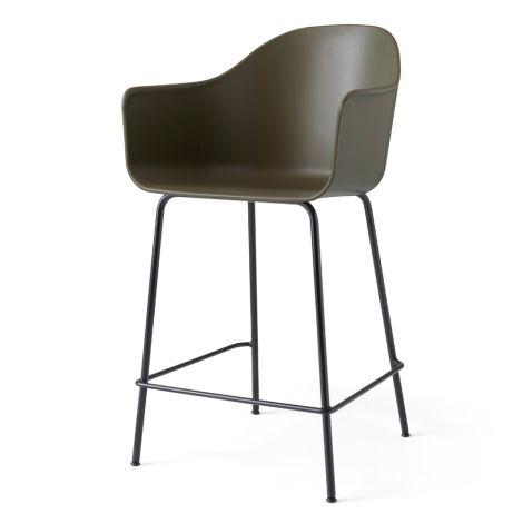 Menu Harbour Stuhl Counter Chair Black Base Olive