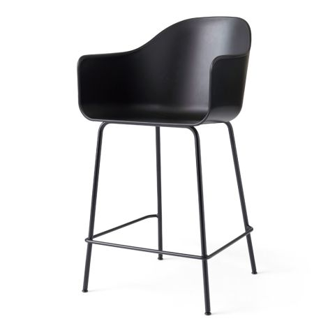 Menu Harbour Stuhl Counter Chair Black Steel Base/Black Shell