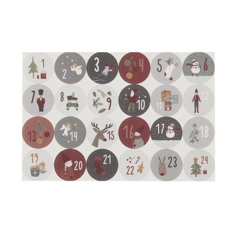 IB LAURSEN Sticker 1-24 Adventskalender 24-teilig