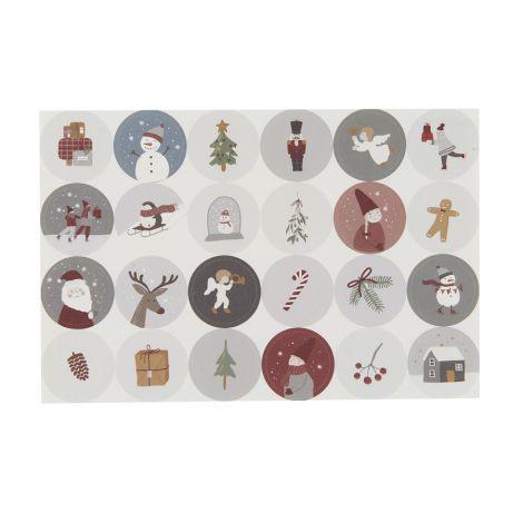 IB LAURSEN Sticker Weihnachten 24-teilig