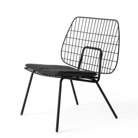 Menu WM String Stuhl Lounge Chair Black