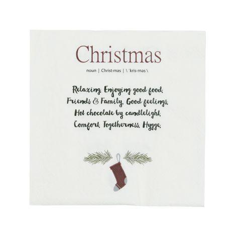 IB LAURSEN Papierserviette Christmas