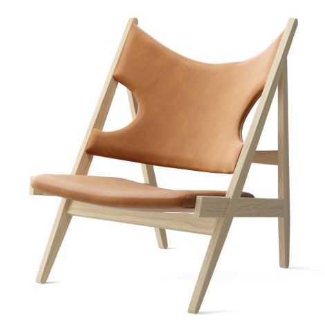 Menu Knitting Stuhl Chair Natural Oak Dunes Cognac