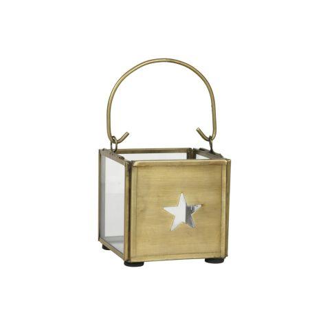 IB LAURSEN Teelichthalter mit Henkel Stern