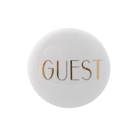 Bloomingville Wandhaken 'Guest' Weiß/Gold