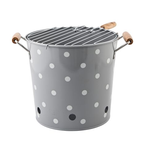 Bloomingville Grill-Kanister BBQ Cool Grey/White Dots