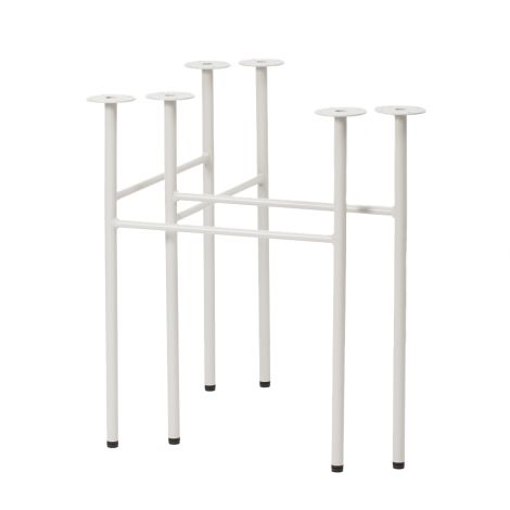 ferm LIVING Tischbeine Mingle W68 Light Grey 2er-Set