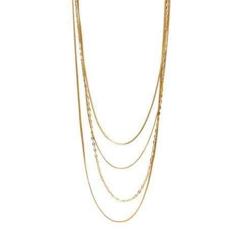 Dansk Smykkekunst Kette Amber Chain Vergoldet •