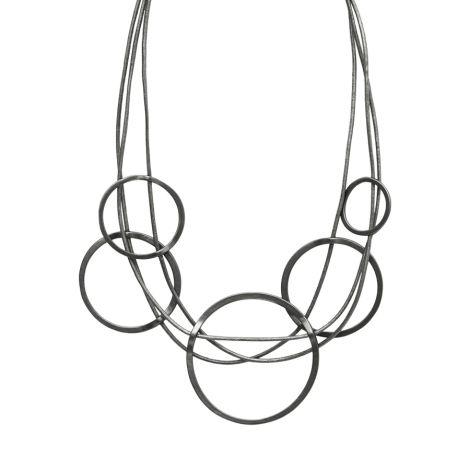Dansk Smykkekunst Kette Tracey Multi Hämatitüberzug •