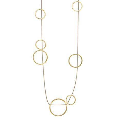 Dansk Smykkekunst Kette Tracey Circle Vergoldet •