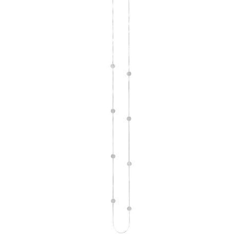 Dansk Smykkekunst Kette Vanity Simple Dot Versilbert •