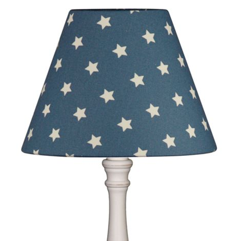 Lampenschirm Sterne auf Blau 20 cm