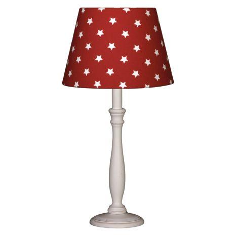 Lampenschirm Sterne auf Rot