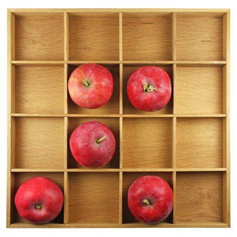 Raumgestalt Apfelkasten aus Eiche geölt, 31 x 31 cm