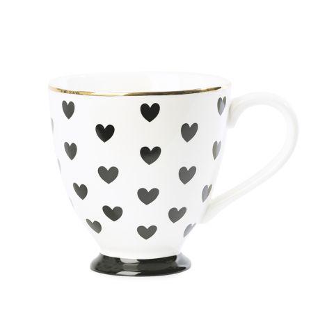 Miss Étoile Kaffeetasse Big Hearts Schwarz