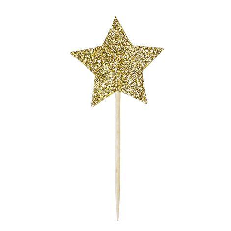 Miss Étoile Deko-Stick Big Star Gold 12 Stk.