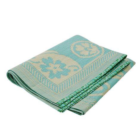 Rice Teppich Floral Swirls Design Cream / Mint