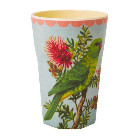 Rice Melamin Latte Cup Becher Two Tone Vintage Parakeet Cream